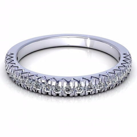 0.36CT TW Round Cut Diamond Wedding Band 18K Gold