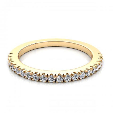 0.22CT TW Diamond Band 18K Gold