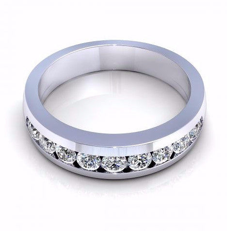 0.60CT TW Diamond Band 18K Gold