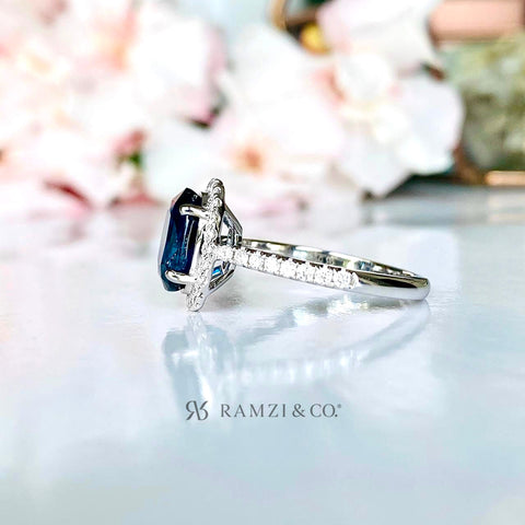 teal+blue+parti+sapphire+halo+diamond+engagement+ring+white+gold