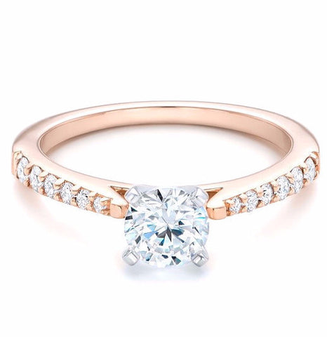 Buy Rose Gold Engagement Rings Online in Australia Ramzis Jewelry