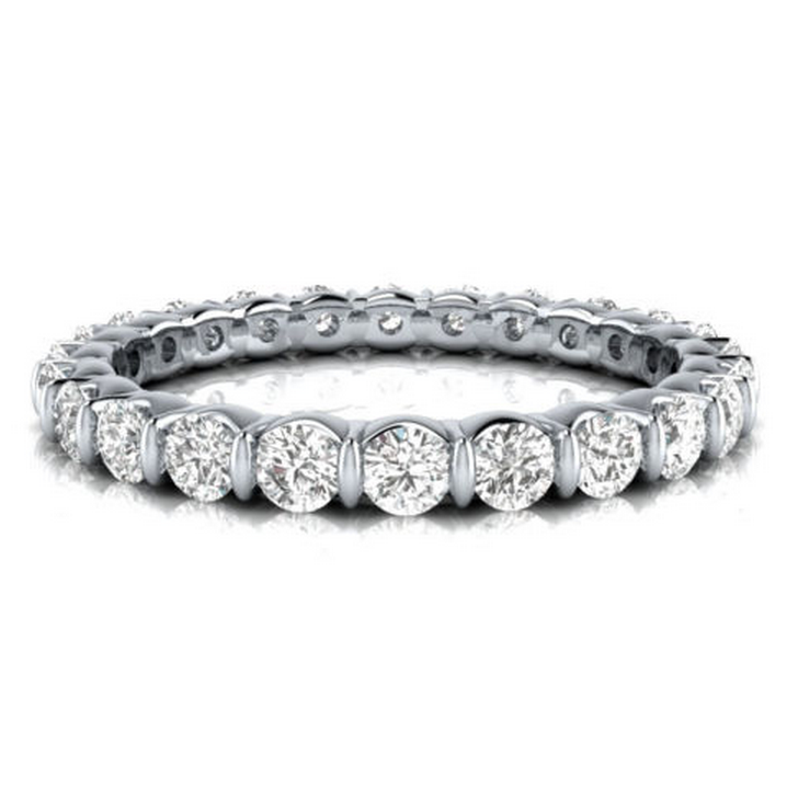 Round Cut Diamond Eternity Ring 18K Gold