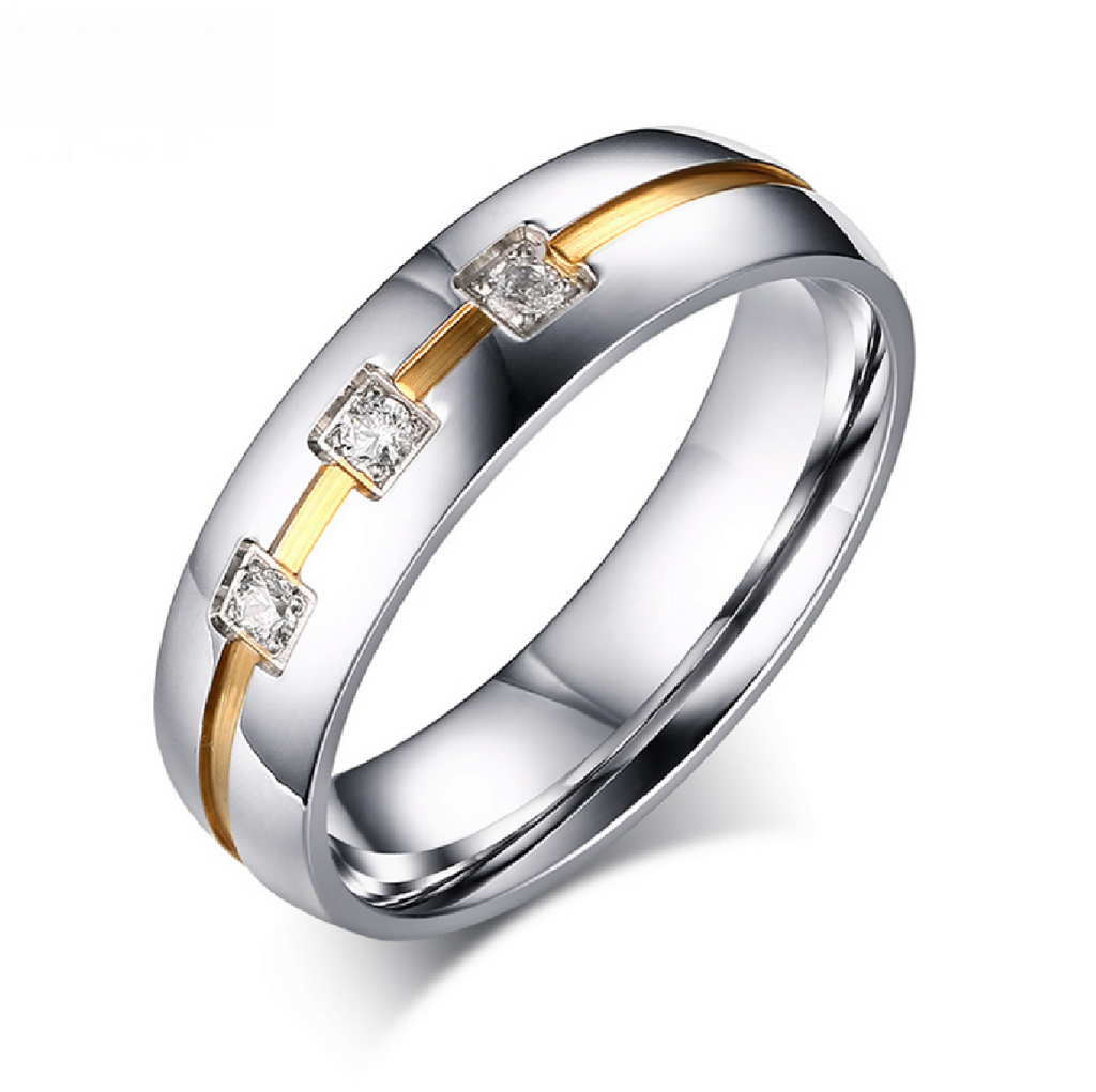 Men's 0.30CT TW Princess Cut Diamond Wedding Band 18K Gold