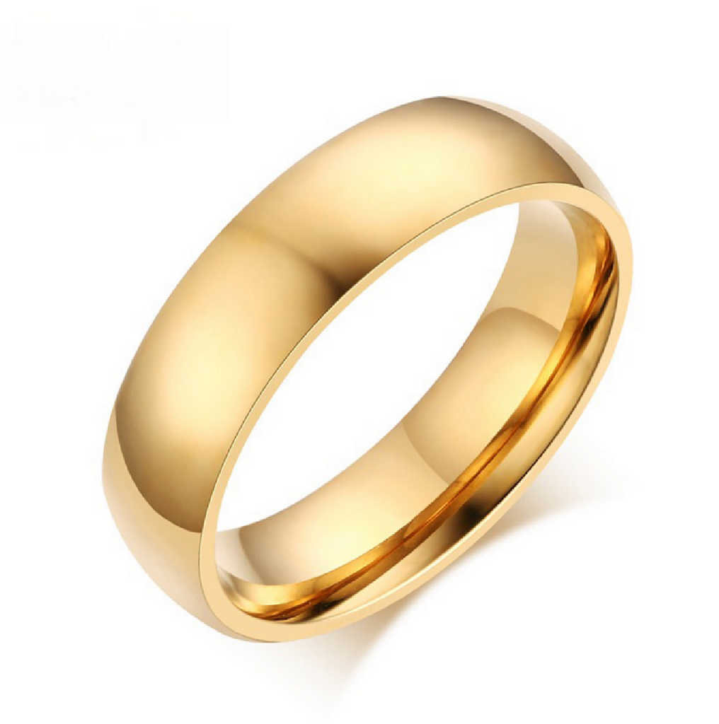 Men's 7mm Width Wedding Band 18K Yellow Gold