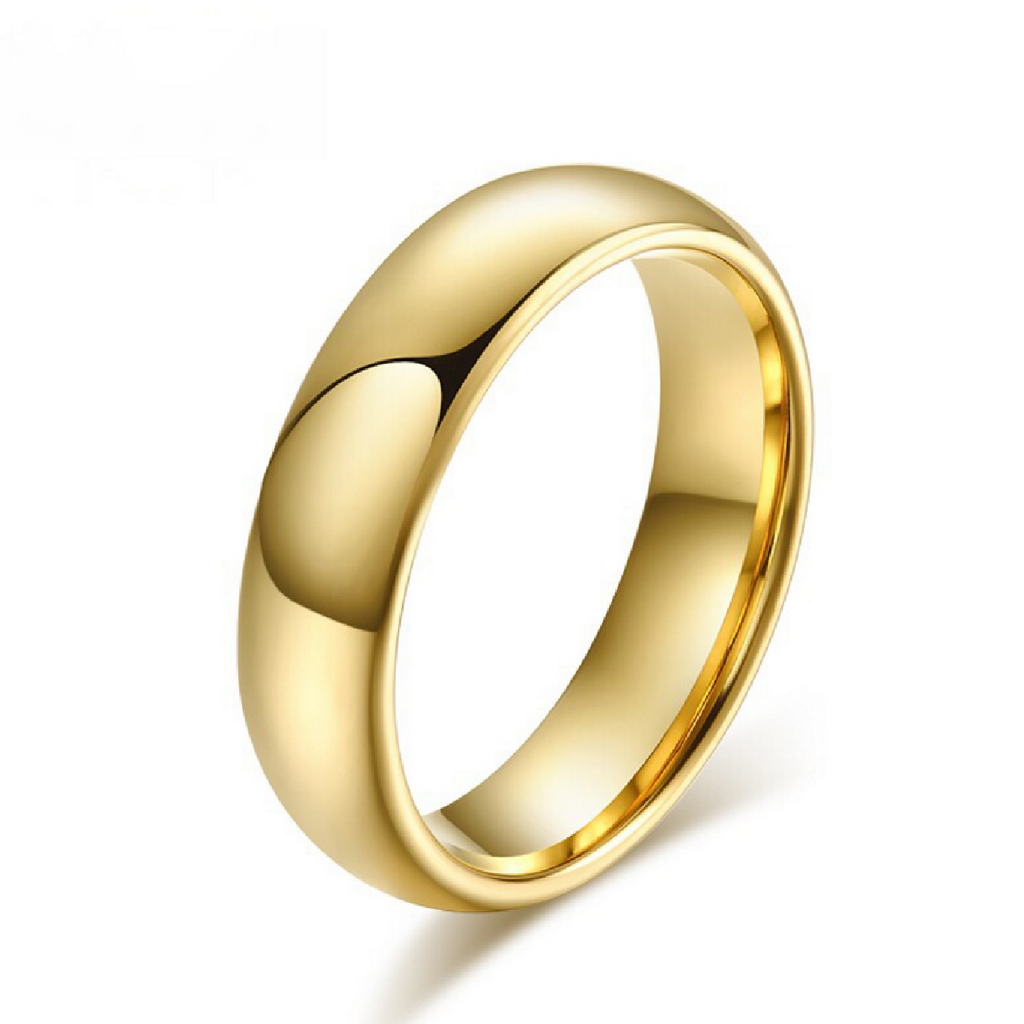 Men's 5mm Width Wedding Band 18K Yellow Gold