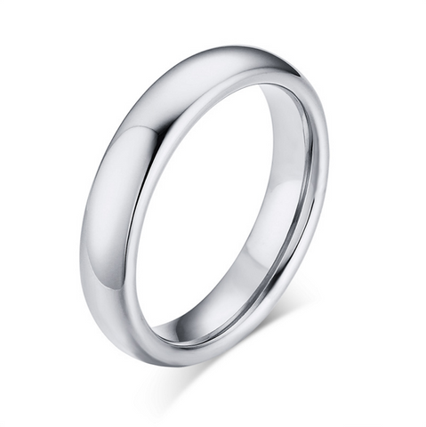Men's 5mm Width Wedding Band 18K White Gold