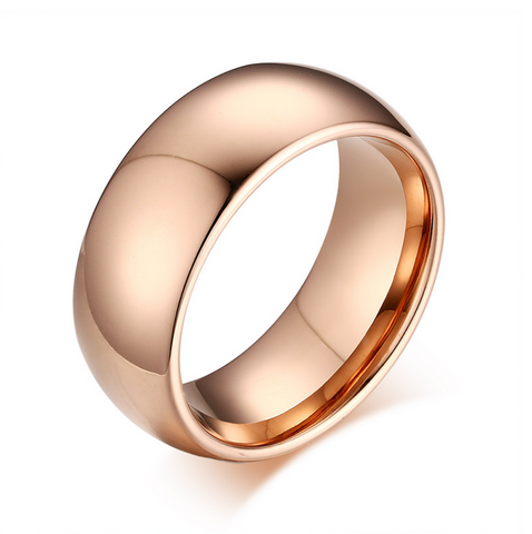 Men's 7.5mm Width Wedding Band 18K Rose Gold