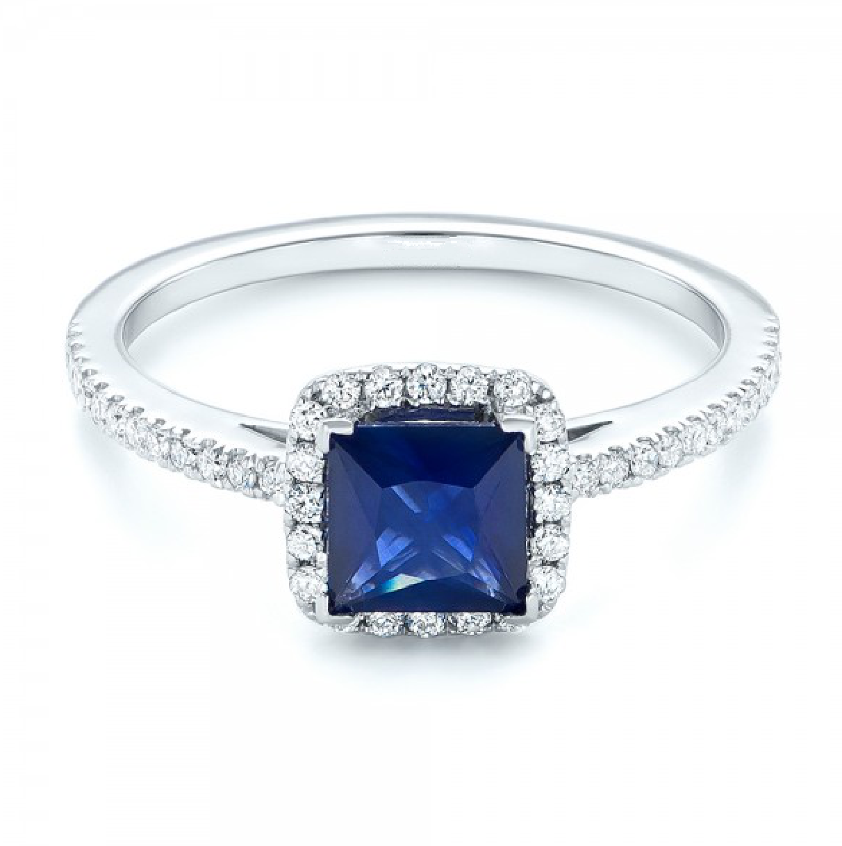 Sapphire And Diamond Engagement Ring Australia