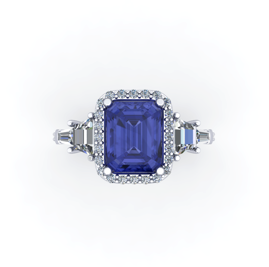 birthstone adjustable silver previous tanzanite december products ring crown slide natural sterling madison audrey
