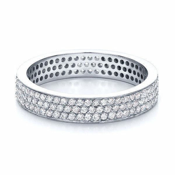 Round Diamond Wedding Eternity Band 18K Gold