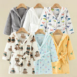 Flannel Winter Kids Sleepwear Robe Infant Pijamas Nightgown For Boys Girls