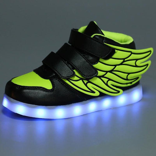 Children Lighted Sneakers Light Shoes Luminous Sneakers For Boys Girls Krasovki With Backlight Kid Luminous Wing Size 25-37