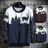 Men sweater Christmas theme loose sweater handsome hot style trendy sweater