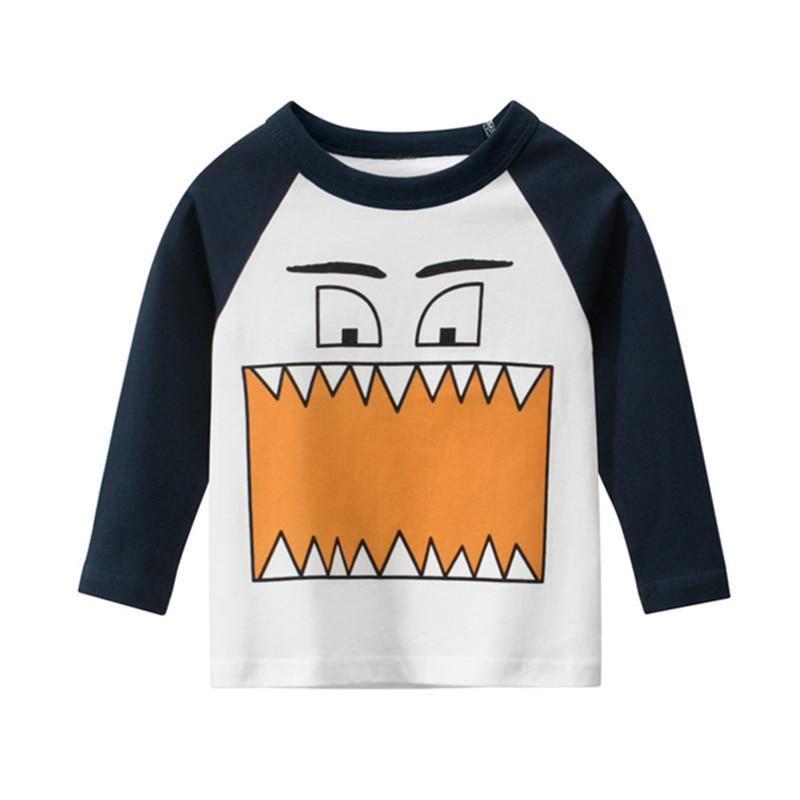 100% Cotton Kids T-Shirts Children Tops Clothes Tee Baby Boys Girls Long Sleeve Tshirt 1 2 3 4 5 6 7 8 Years Old Child Clothing