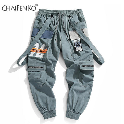 CHAIFENKO 2020 New Hot Jogger Leisure Sports Trousers Men Hip Hop Streetwear Beam Foot Cargo Pants Fashion Printing Men Pants