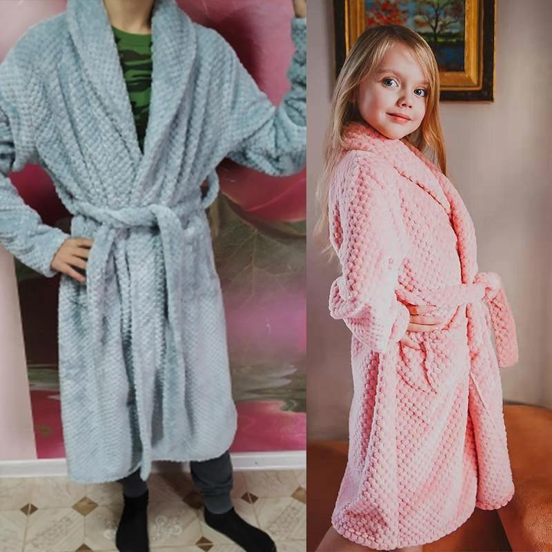 4-18 Year Autumn Winter Bathrobe kids sleepwear robe 2020 Children bath robe warm soft pajamas for girl boy Teenage Flannel Robe