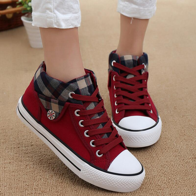 Women 2020 Vulcanized Canvas Fashion Sneakers