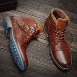 Men's Casual  High Quality Microfiber Comfotable Ankle Boots