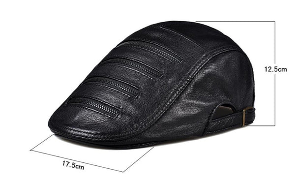 Genuine Leather Driving Cap Hat