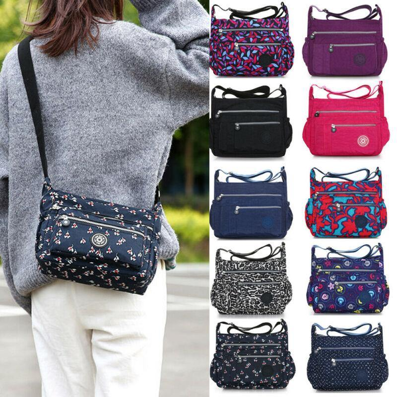 New fashion women's shoulder bag large capacity waterproof nylon Messenger bag printing handbag