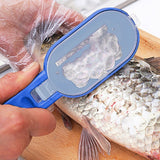 2 In1 Plastic Fishing Scale Remover Brush With Built-in Fish knife