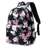 Rose flower printed Floral 3pcs/set Bag pack School Bags