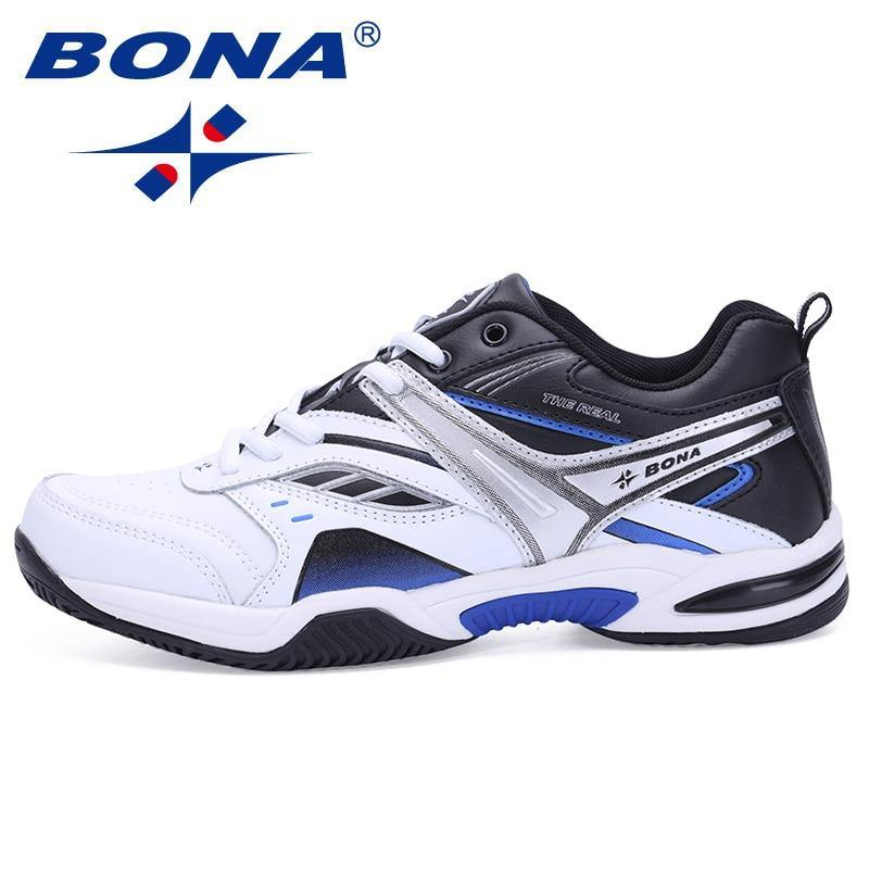 BONA New Classics Style Men Tennis Shoes Lace Up Men Sport Shoes Top Quality Comfortable Male Sneakers Shoes Fast Free Shipping