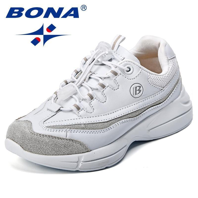 BONA New Popular Style Children Sneakers Synthetic Boys Casual Shoes Hook & Loop Girls Outdoor Leisure Shoes Fast Free Shipping