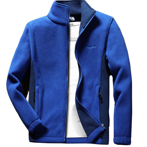 Anbican Fashion Mens Spring Jacket 2019 Brand New Stand Collar Casual Jacket Men Thermal Fleece Coat Big Size 6XL 7XL 8XL 9XL