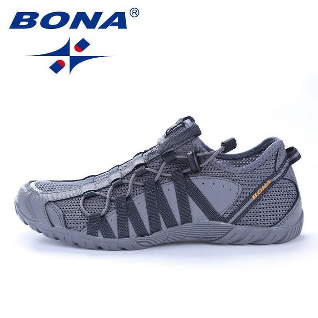 BONA New Popular Style Men Running Shoes Lace Up Athletic Shoes Outdoor Walkng jogging Sneakers Comfortable Fast Free Shipping