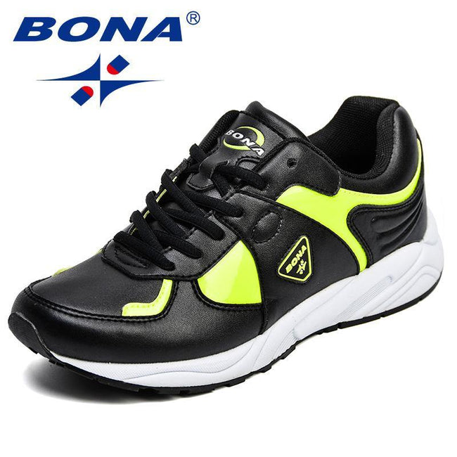 BONA New Popular Style Women Running Shoes Synthetic Lace Up Female Athletic Shoes Outdoor Lady Jogging Shoes Fast Free Shipping