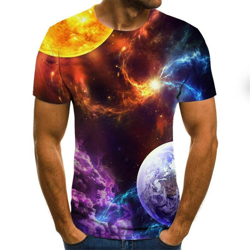 2020 New Starry Sky 3d Printed t shirt Men Summer Casual Man's T-shirt Tops Tees Funny tshirt Streetwear Male size XXS-6XL