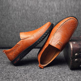 Leather Men Shoes Luxury  Formal Loafers