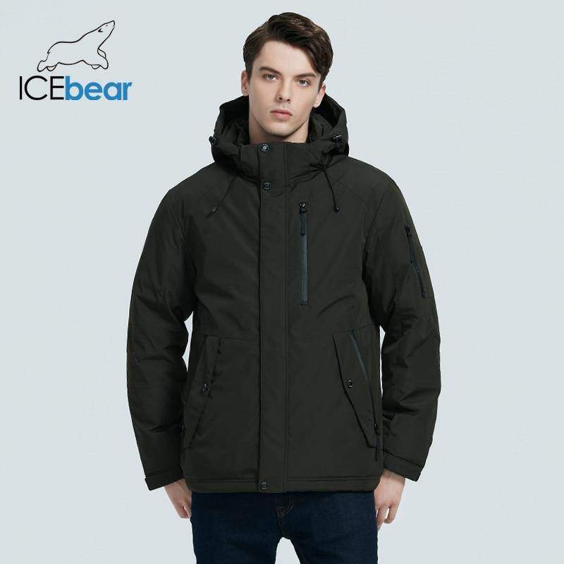 ICEbear 2020 autumn and winter new men's hooded coat warm men's cotton jacket fashion men's clothing MWD20853D