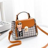 Tote Plaid Handbag For Women Shoulder Bags