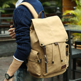 Men 14inch Laptop Canvas Backpack