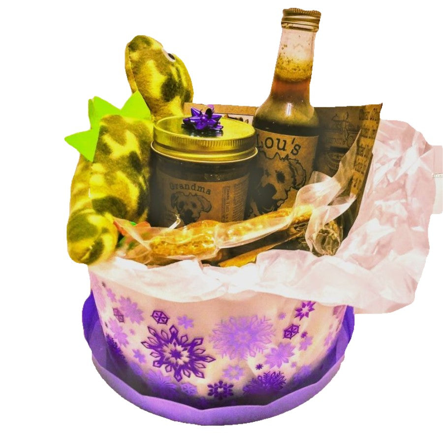 Medium Holiday Dog Treat Basket