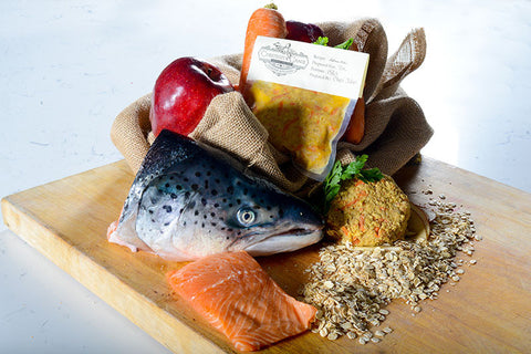 Alaskan Salmon, Oat & Apple Entrée $5/lb, 3lb Package