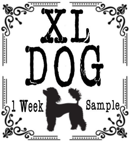 One Week Sample for a 76+ LB Dog