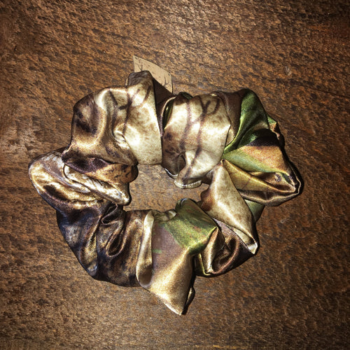 Satin camouflage Scrunchie