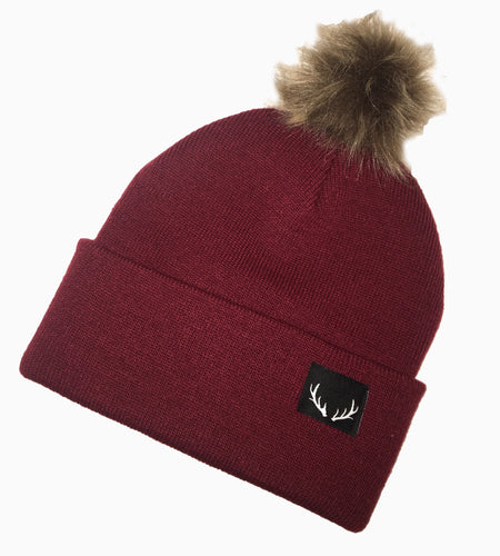 Maroon Pompom Toque *one left in stock*