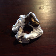 Load image into Gallery viewer, Satin white camouflage Scrunchie