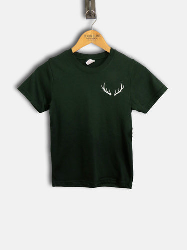 Kids Green Antler T Shirt