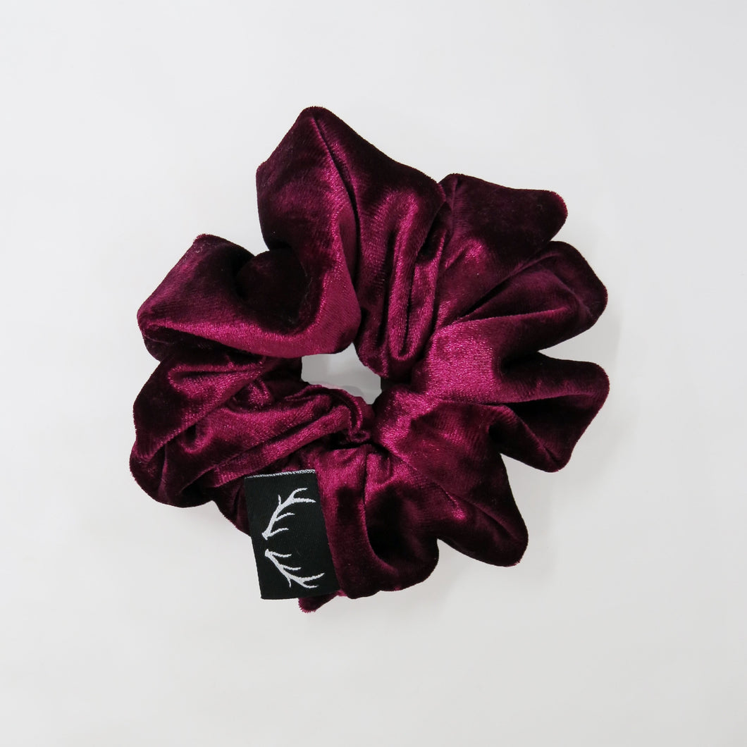 Wine Velvet  Scrunchie