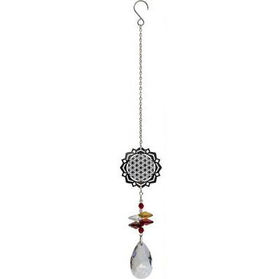 Hanging crystal flower of life