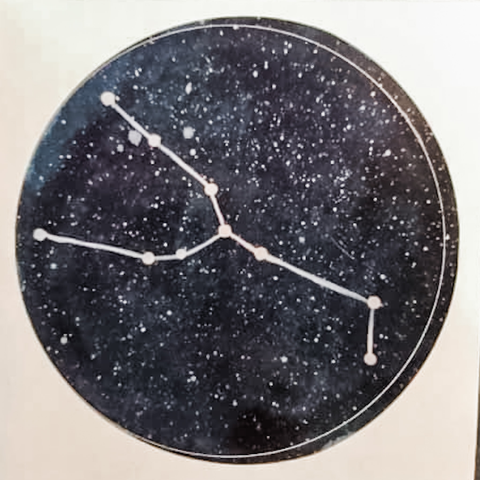 Zodiac Sticker - Taurus Constellation