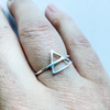 Ring element air/earth sterling silver