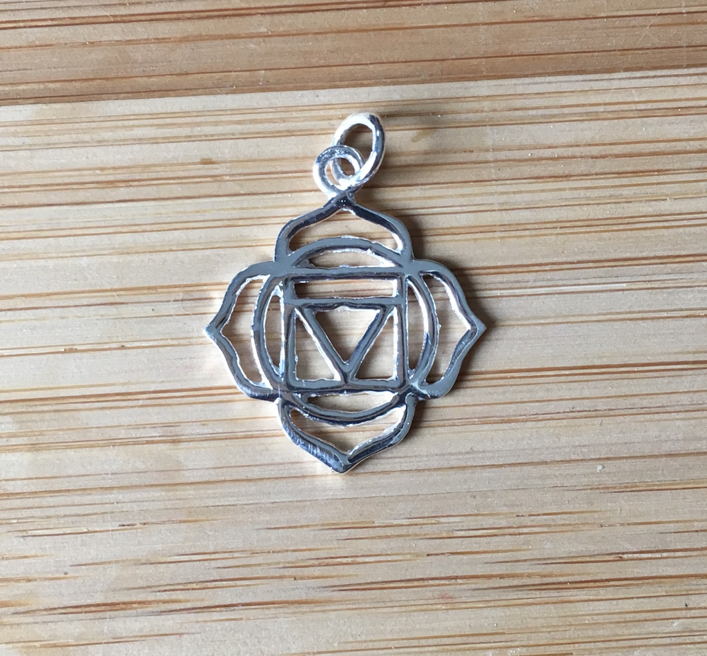 Pendant sterling silver root chakra