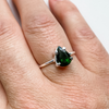 Ring green tourmaline drop sterling silver