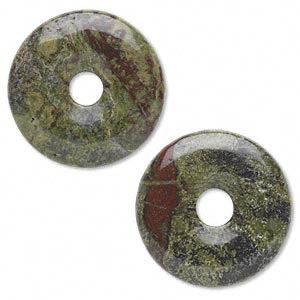 Donut/Pi disc dragon blood 30mm (1 stone)